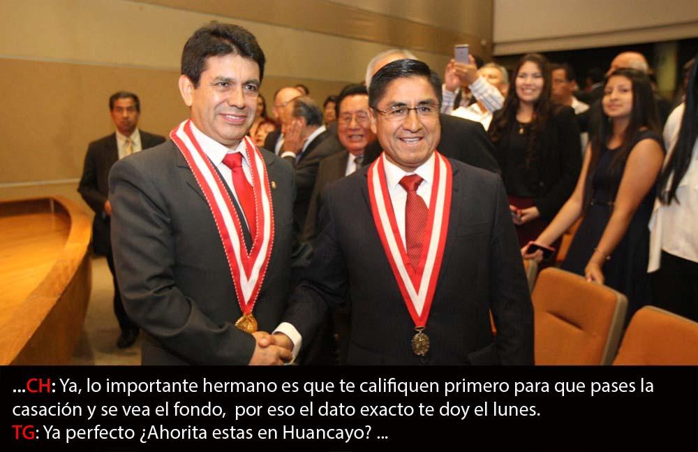 Tomas Galvez y César Hinostroza