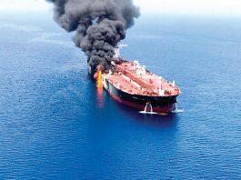 ataque a dos petroleros en el Golfo de Omán