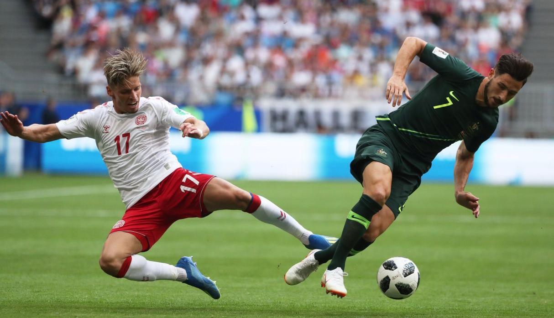 Australia igualó 1-1 ante Dinamarca y le pone suspenso al grupo C del Mundial Rusia 2018