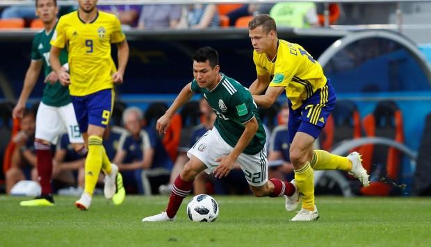 México cayó goleado ante Suecia, pero consiguió boleto a octavos de final del Mundial Rusia 2018