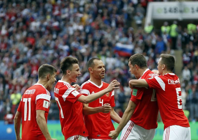 Rusia venció 3-1 a Egipto y aseguró su pase a los octavos del Mundial Rusia 2018