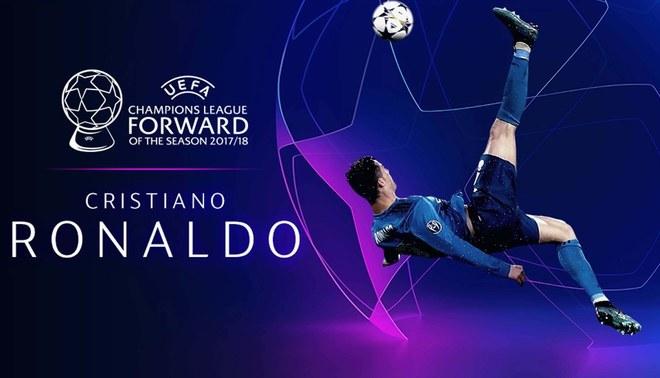 Cristiano Ronaldo es elegido como el mejor delantero de la temporada