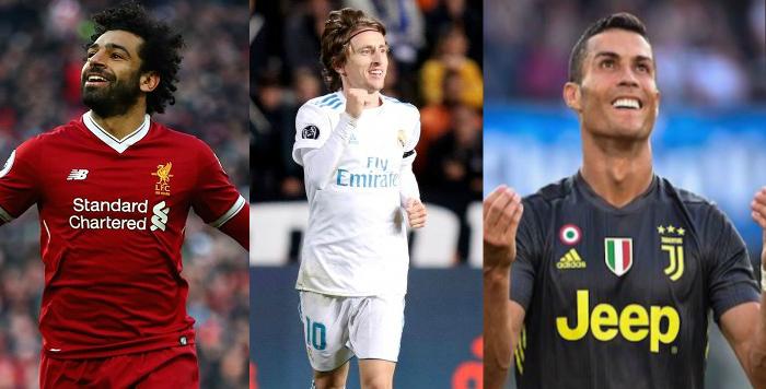 Cristiano Ronaldo, Modric y Salah son los finalistas al mejor jugador UEFA