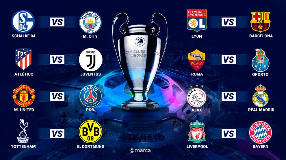 Así se sortearon los octavos de final de la Champions League