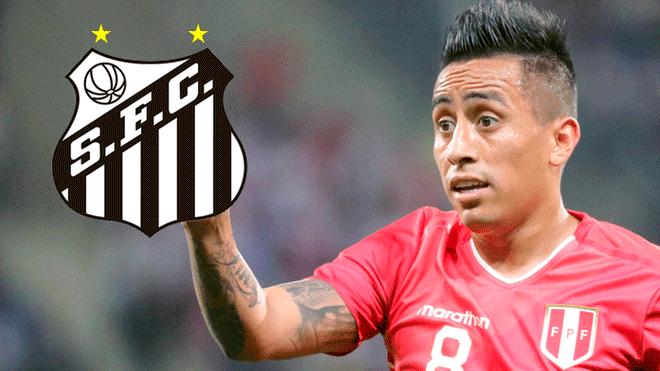 Santos de Brasil confirmó interés por Christian Cueva