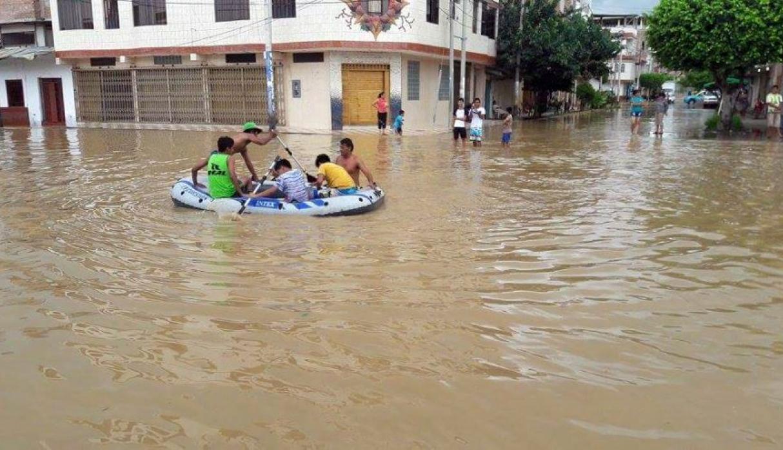 Alerta: Río Tumbes se desborda y afecta a zona de Bellavista