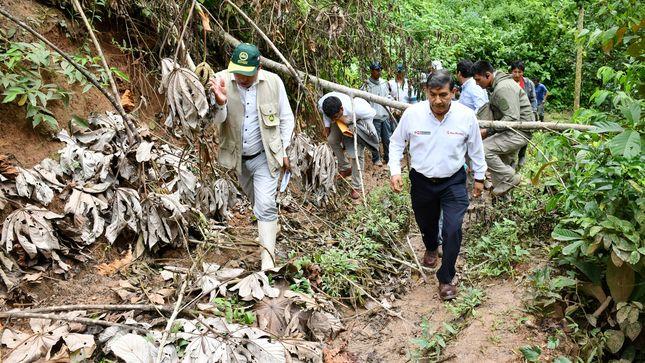 Morán inspeccionó en Pasco zonas afectadas por intensas lluvias