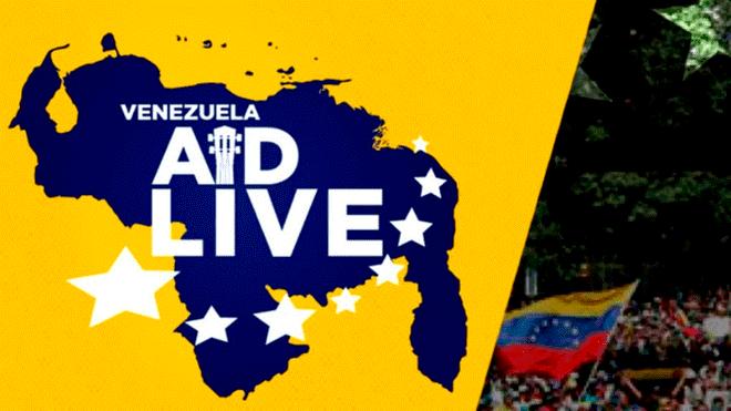 Concierto Venezuela AID LIVE EN VIVO contra régimen de Maduro y pedido de ayuda humanitaria