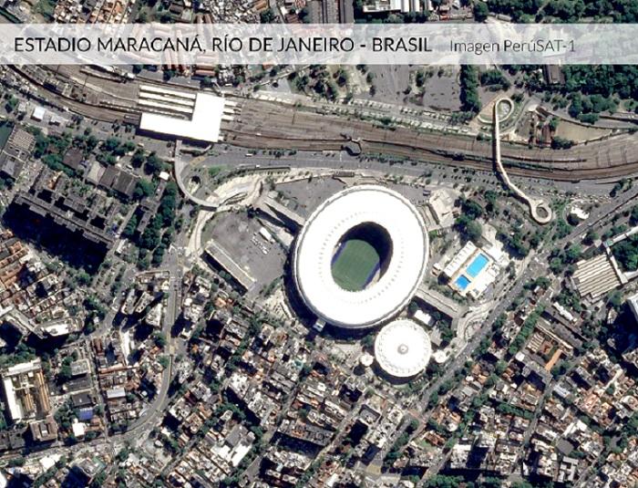 Estadios de la Copa América captados por el satélite PerúSAT-1