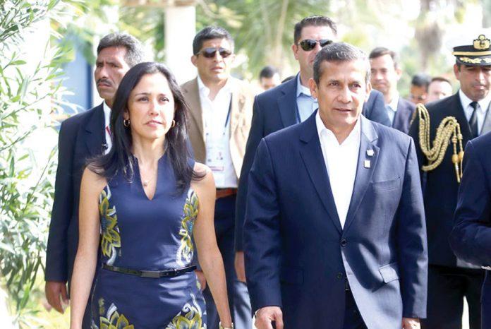 Ollanta Humala Tasso y su esposa Nadine Heredia