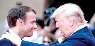Presidente-de-Francias,-Emmanuel-Macron-y-EEUU,-Donald-Trump
