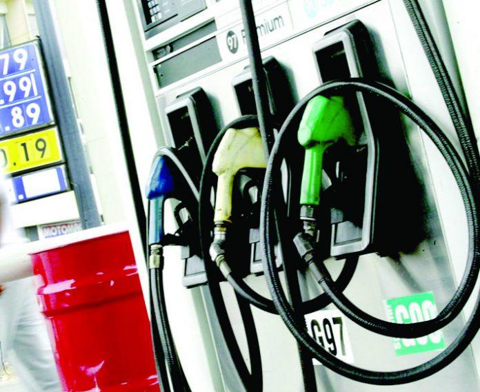 El diesel subió hasta 0.4% por galón.
