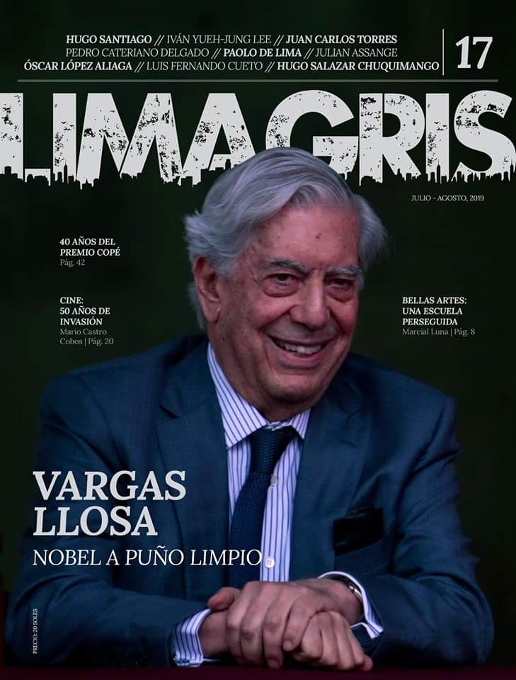 Vargas Llosa en la portada de la revista Lima Gris