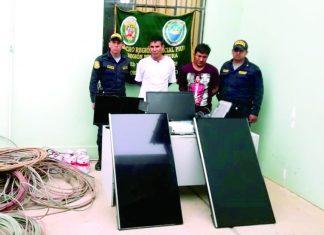 Los intervenidos responden a los nombres de Freddi Arturo Mariñas Seminario (33), Santos Fabián Zapata Olaya (32) y Wilmer Andrés Navarro Valencia (21).