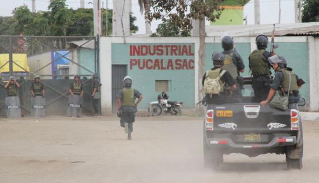 Empresa industrial Pucalá no puede desarrollar sus actividades diarias por inacción policial.