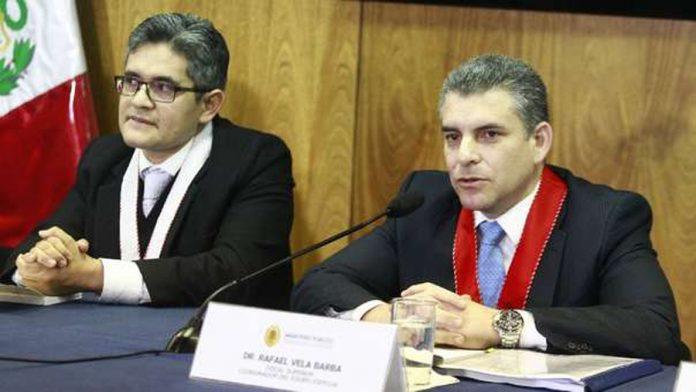 """Los fiscales ;José Domingo Pérez y Rafael Vela , miembros del Equipo Especial """"Lava Jato"""", """"rompieron palitos"""" con el presidente Martín Vizcarra."""