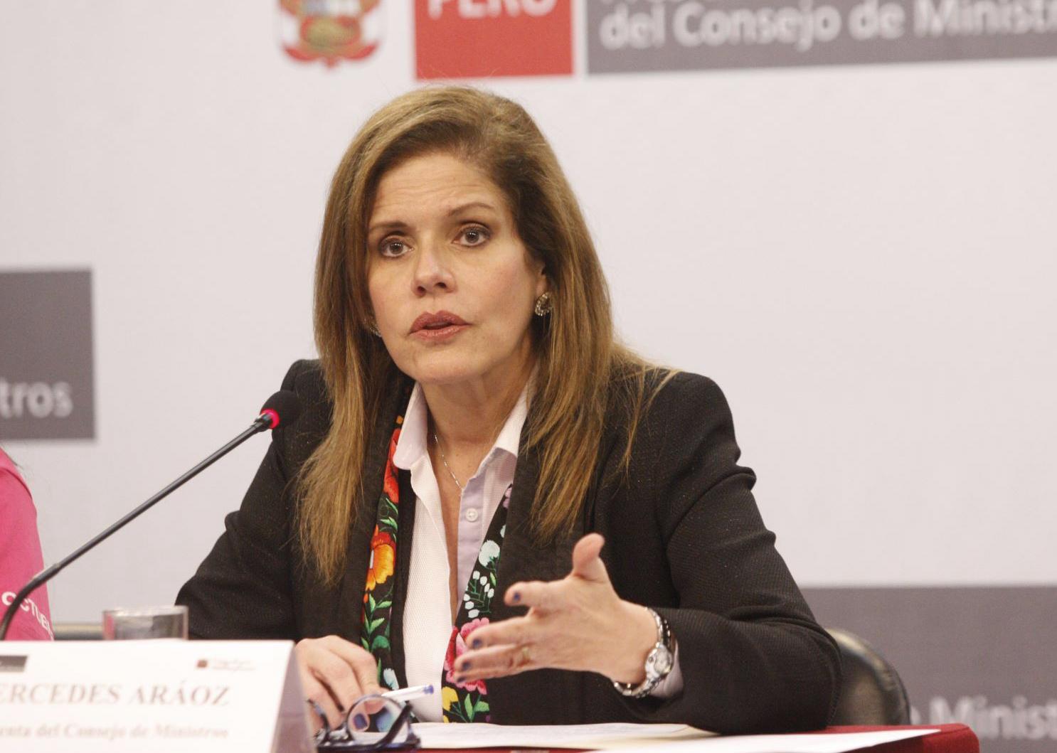 Congreso quiere fuera de su cargo como vicepresidenta a Mercedes Aráoz