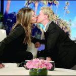 Jennifer Aniston se besa con Ellen DeGeneres