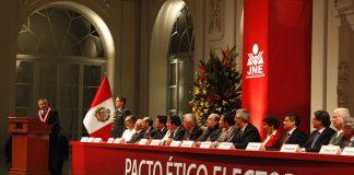 Elecciones 2020: partidos suscribirán Pacto Ético Electoral el 8 de noviembre