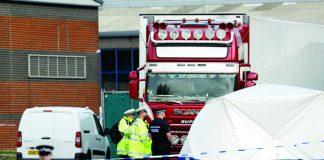 Hallan 39 cadáveres en un camión en el Reino Unido