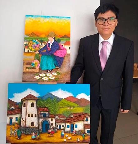 Artista con autismo inaugura exposición en Los Olivos