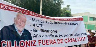 Trabajadores de Cayalti acatan huelga por falta de pagos