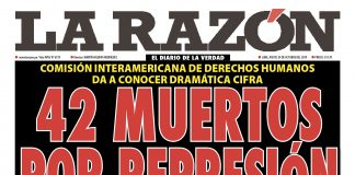 Portada impresa - Diario La Razón (24/10/2019)
