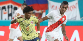 colombia le gana a perú 1-0