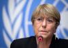 Michelle Bachellet, Comisionada de Naciones Unidas para los Derechos Humanos. Foto: AFP