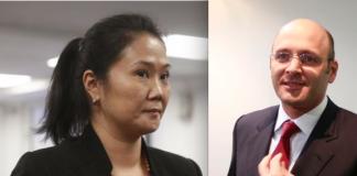 Keiko Fujimori y Dionisio Romero