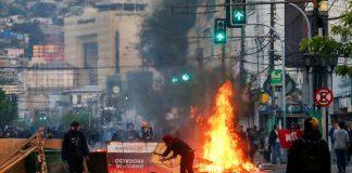 Vandalismo en Valparaíso, Chile (foto: Reuters)