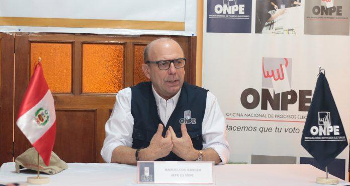 Jefe de la ONPE solicita al JNE pronunciarse sobre la reelección