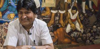 Evo Morales, en el Palacio del Ayuntamiento de la Ciudad de México este miércoles. FOTO/ VIDEO: GLADYS SERRANO
