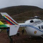 Denuncian que aterrizaje forzoso de helicóptero de Evo sería atentado