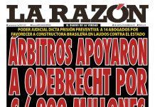 Portada – Diario La Razón (05/11/2019)