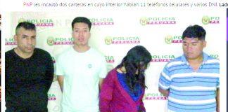 Madre e hijo capturaban banda de delincuentes