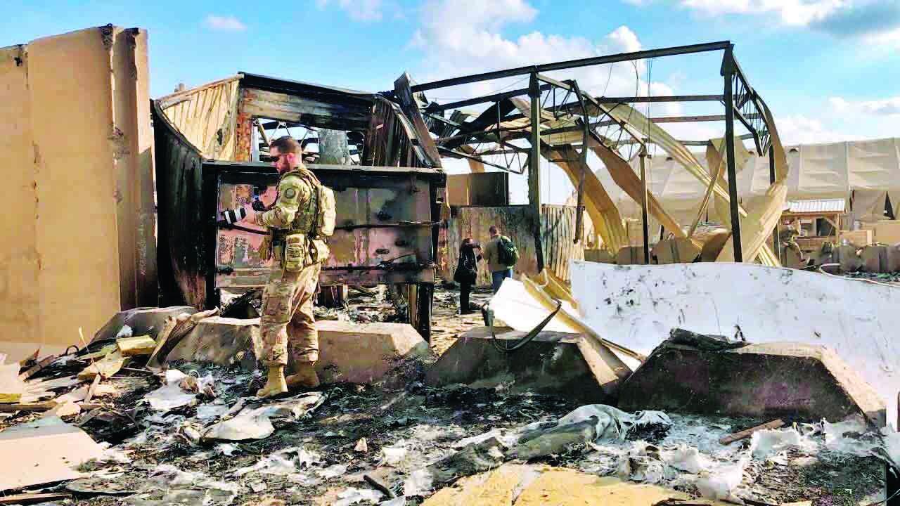 Así quedó base militar de EE.UU. en Irak tras ataque / FOTOS