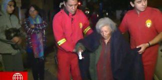 Vecinos evitaron que anciana muera en incendio