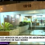 Doce personas heridas fue el saldo de la caída de un ascensor en un edificio