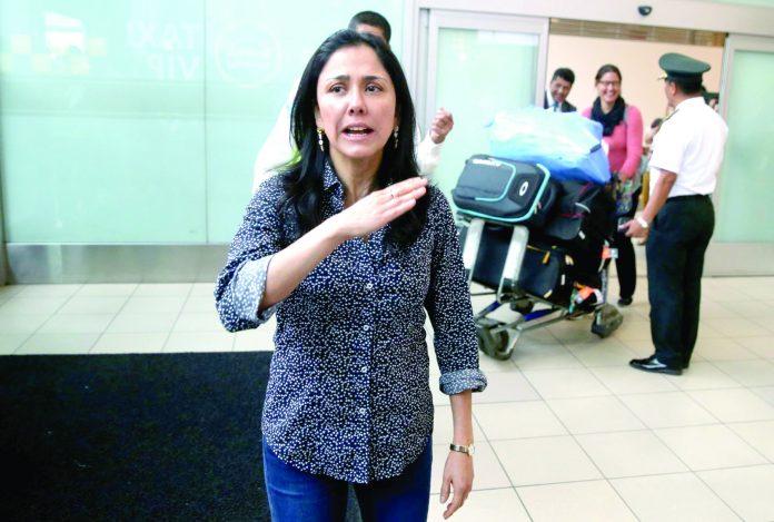La Fiscalía acusa a Nadine Heredia de favorecer a Odebrecht con la licitación del gasoducto.