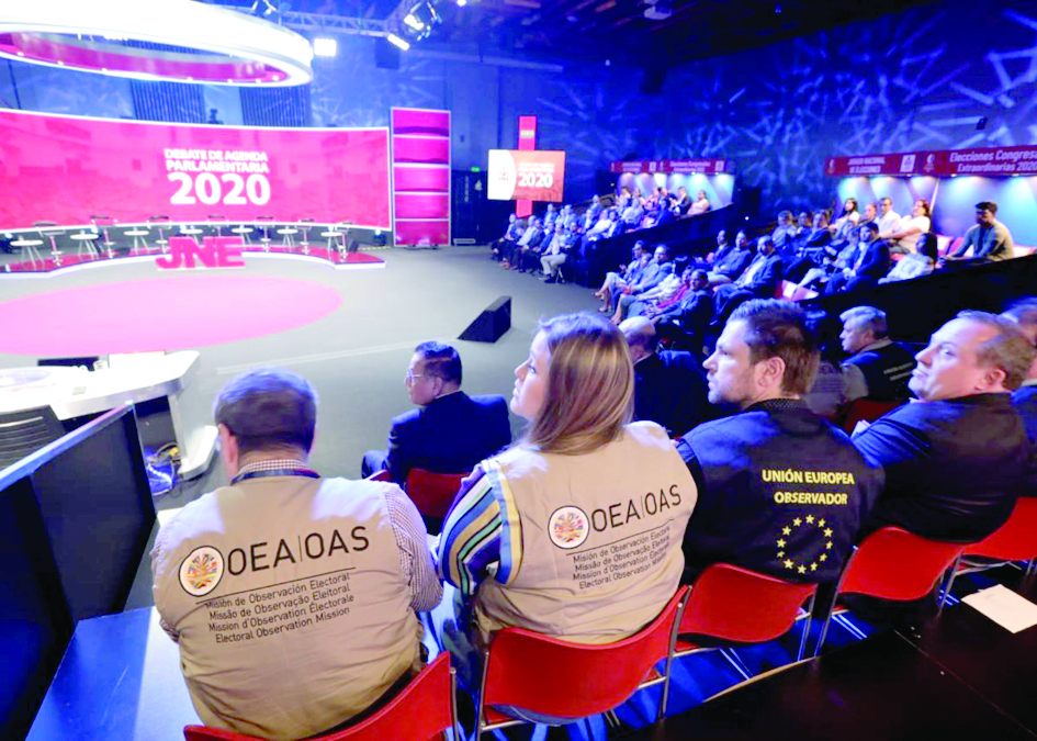 Observadores internacionales estuvieron presentes en el último debate electoral