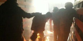 Surco: Fiscalizadores son atacados con bombas molotov