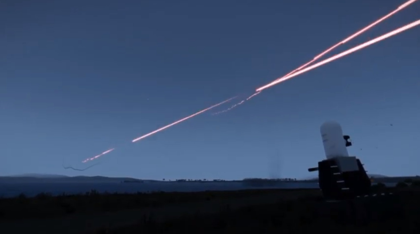 Misiles lanzados por Irán fueron destruidos por ametralladoras de visión electrónica [Vídeo]