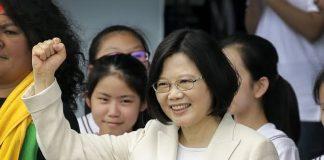 presidenta deTaiwán Tsai Ing-wen