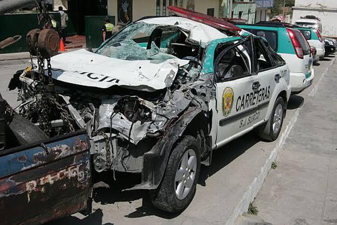 patrullero en el que viajaban se despistara y volcara en el kilómetro 173 de la carretera Ciudad de Dios