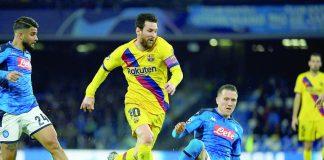 Barcelona y Napoli igualan 1 a 1 en la Champions
