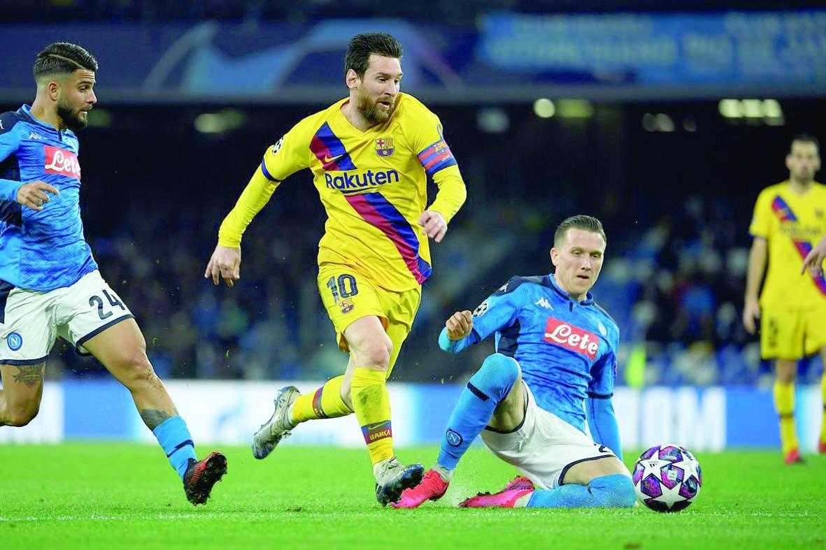 Barcelona y Napoli igualan 1 a 1 en la Champions League