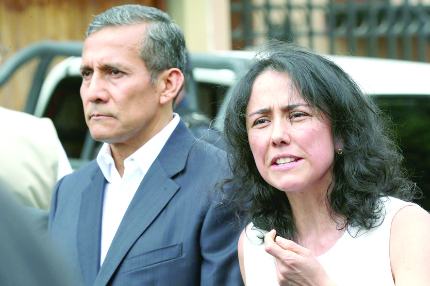 PJ confirma congelamiento de cuentas de Humala y Heredia