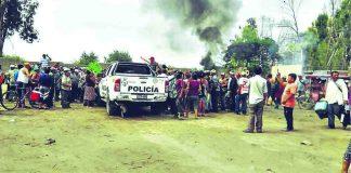 Cientos de policías tomaron a sangre y fuego instalaciones de empresa agroindustrial Cayaltí.