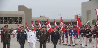 Durante la ceremonia se destacó al Batallón Contrasubversivo N° 28, por su destacada participación en el conflicto.